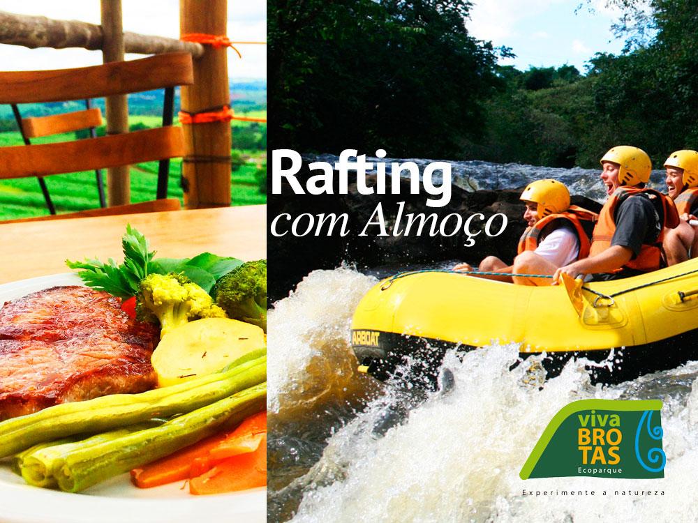 rafting com almoço